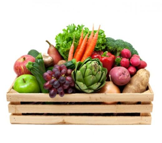 Ziek worden van groente en fruit bangmakerij gezondheidskrant - Krat met appel ...