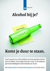 Alcohol bij je? Komt je duur te staan, bierflesje