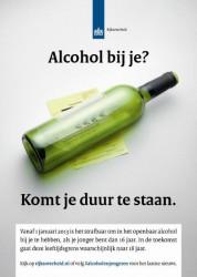 Alcohol bij je? Komt je duur te staan, wijnfles