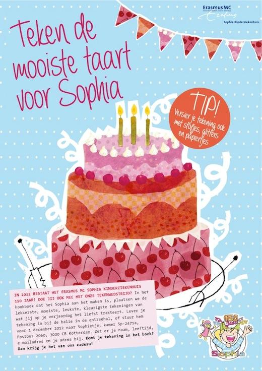 Teken de mooiste taart voor Sophia