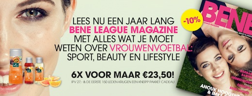 BeNe League Magazine, aanbieding
