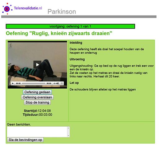 Telerevalidatie.nl, oefening