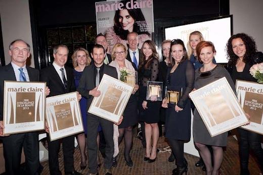 Winnaars Marie Claire Prix d'Excellence de la Beauté 2013
