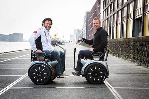 Oprichter Paolo Badano en Paralympisch tennisser Maikel Scheffers