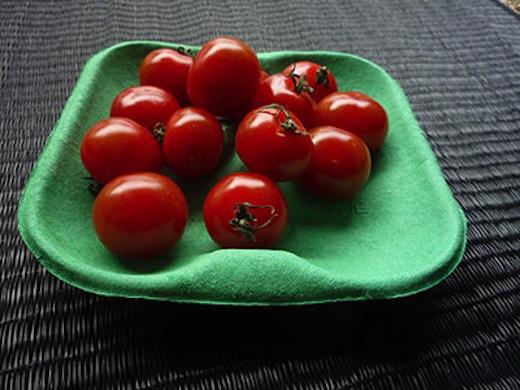 Tomaat verpakt in eigen blad