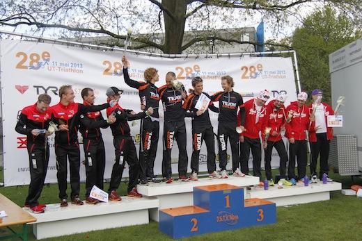 28e UT Triathlon podium bij de mannen