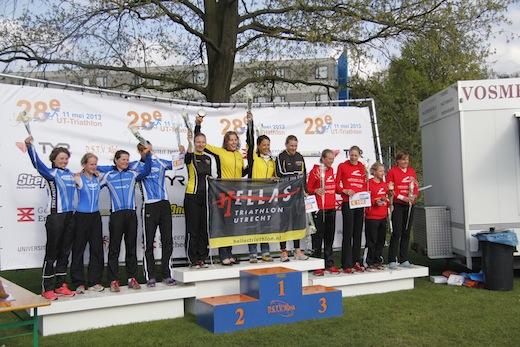 28e UT Triathlon podium bij de vrouwen