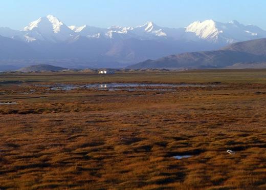 Pamir gebergte in Tadzjik National Park, Tadzjikistan
