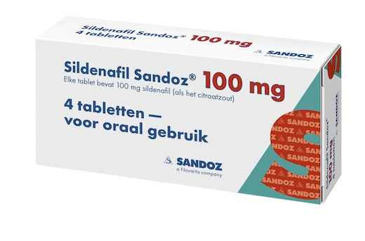 Sildenafil Sandoz 100 mg 4 tabletten