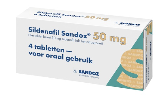 Sildenafil Sandoz 50 mg 4 tabletten