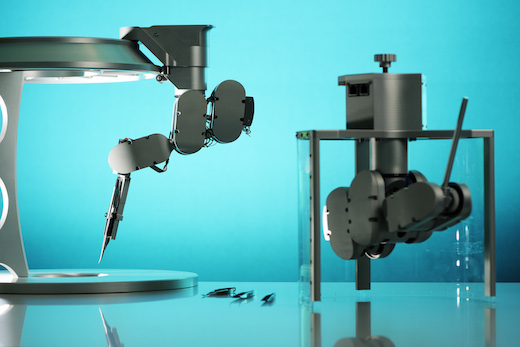 Microsurgical Robot prototype from TU/e