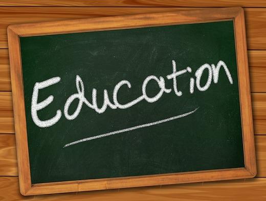 Educatie, schoolbord