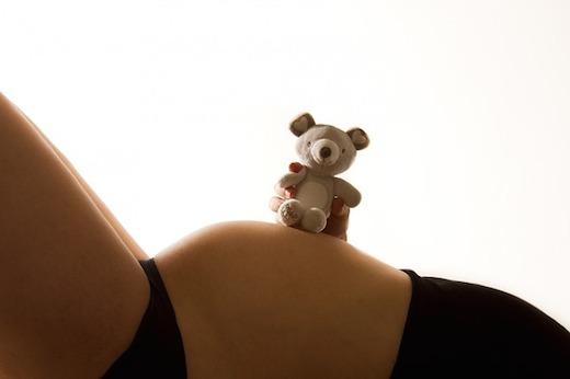 Zwanger, buik, teddybeer