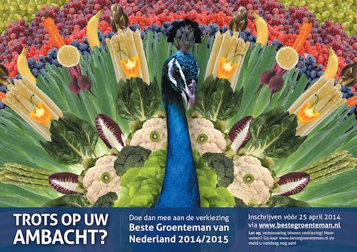 Beste groenteman van Nederland. Uitnodiging Pauw
