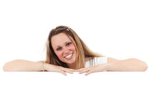 Vrouw, vrolijk, lachen