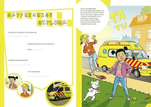 Kinderboek Ambulancezorg, Ambulance Oost, Dapperheidsdiploma