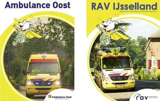 Kinderboek Ambulancezorg, Ambulance Oost, voorkant