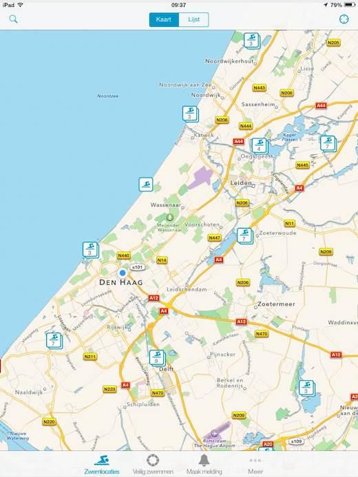 Zwemwater App kaart