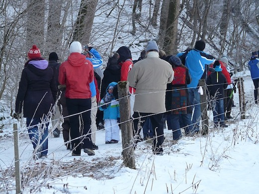 wandelen mensen sneeuw