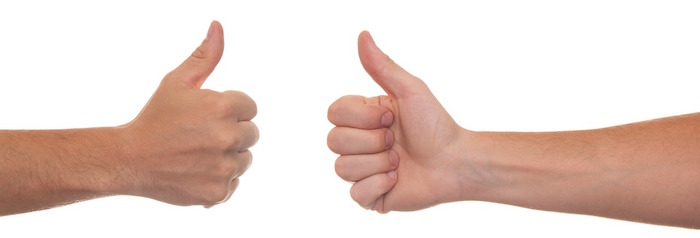 duim, hand, gebaar