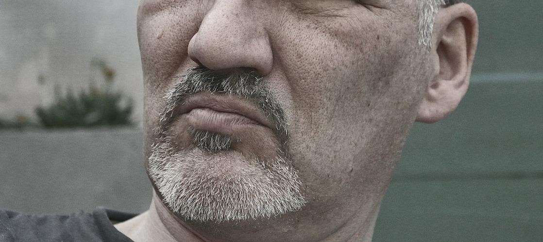 man portret gedeeltelijk gezicht