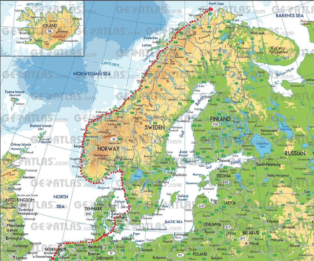 Martijn Blikman Noorwegen Nederland route peddelen