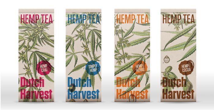 Dutch Harvest Hennep thee verpakkingen