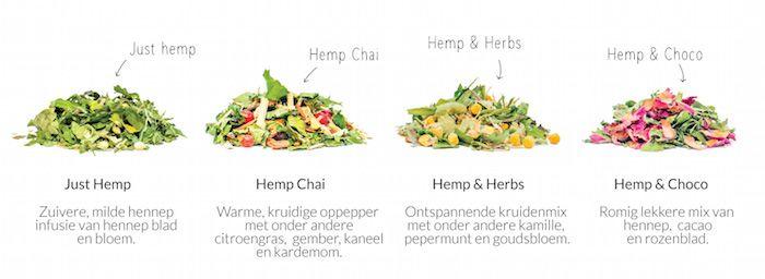 Dutch Harvest hennep thee melanges