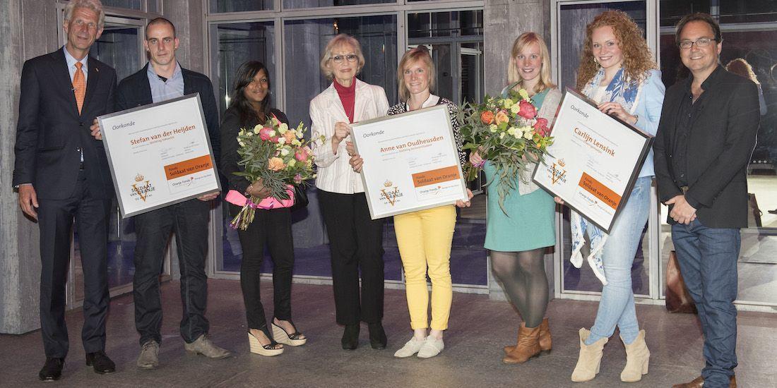 Winnaars Fonds Soldaat van Oranje 2015