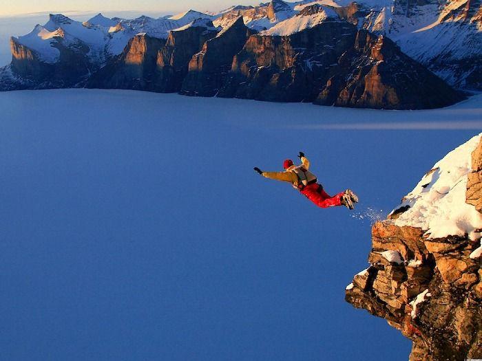 Base jumpen extreme sports