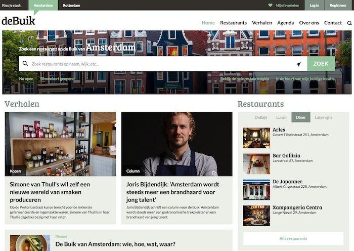 De Buik van Amsterdam website