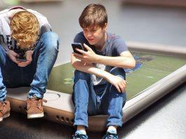 mobiele telefoon, kinderen, school