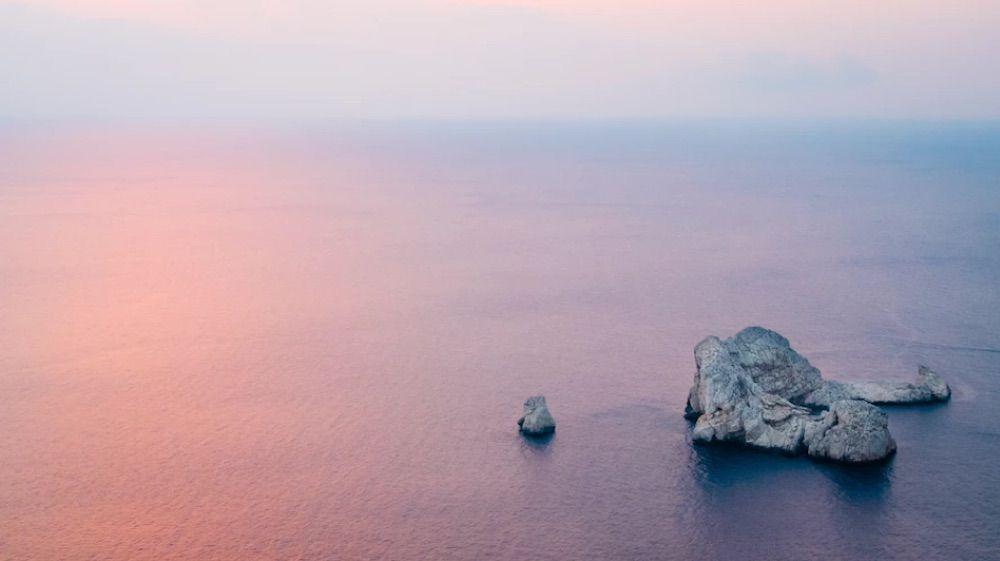 Ibiza zee zonsondergang