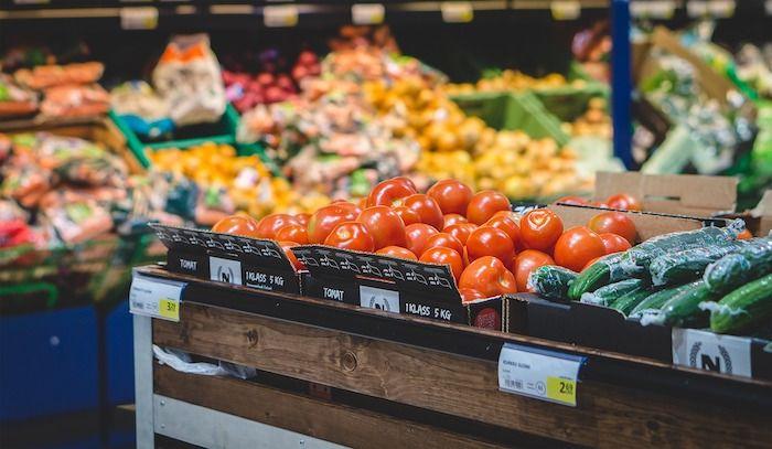 groente afdeling supermarkt