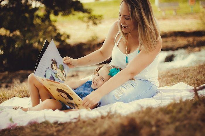 moeder kind lezen