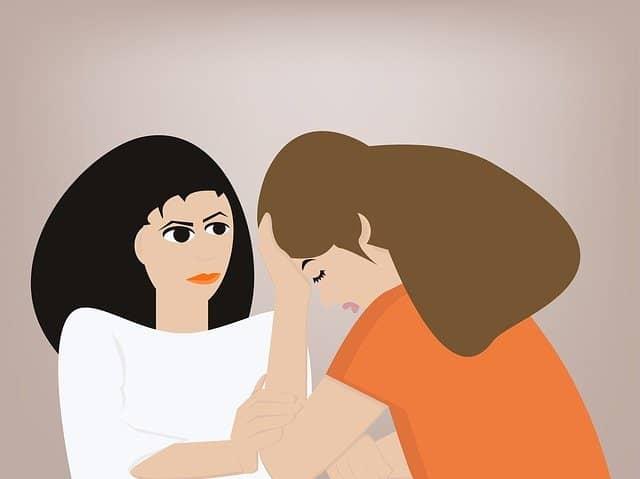 Illustratie van een arts die een patiënt helpt.