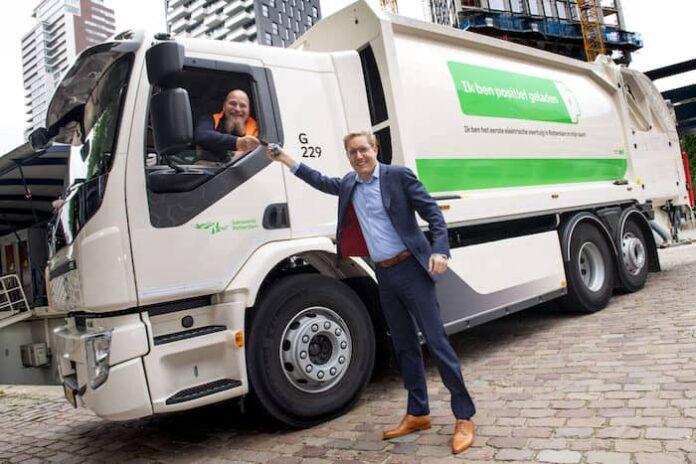 Elektrische vuilniswagen Rotterdam