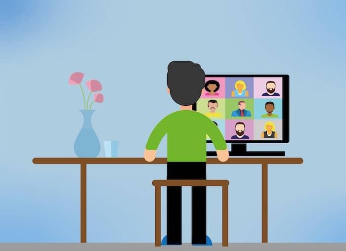 thuiswerken online vergaderen