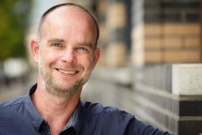 Conrad Berghoef auteur van het boek leraar op de fiets