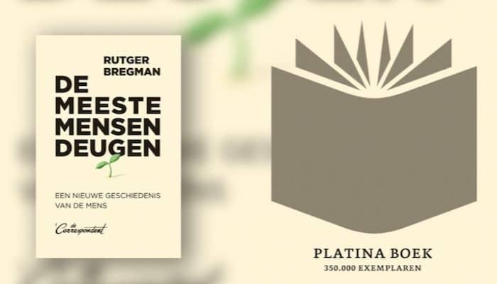 Platina Boek, De meeste mensen deugen, Rutger Bregman