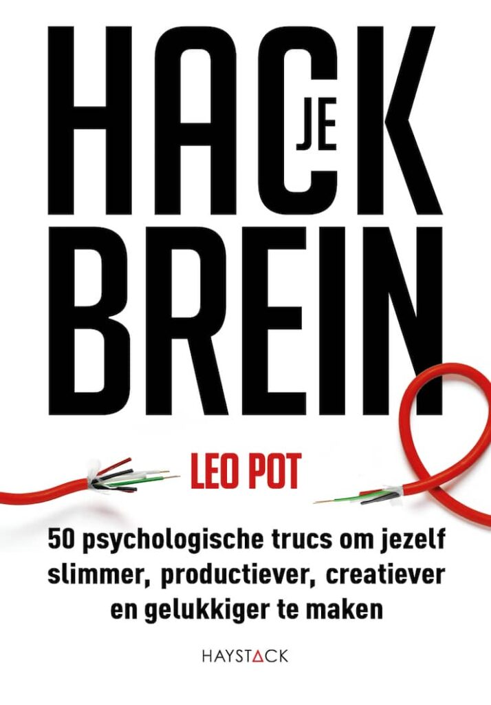 Boekcover Hack je brein van auteur Leo Pot.