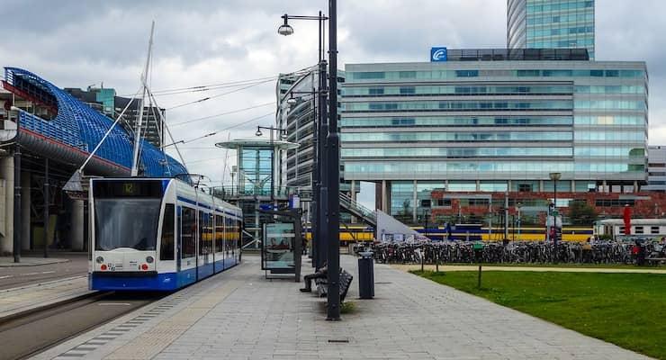 tramhalte amsterdam