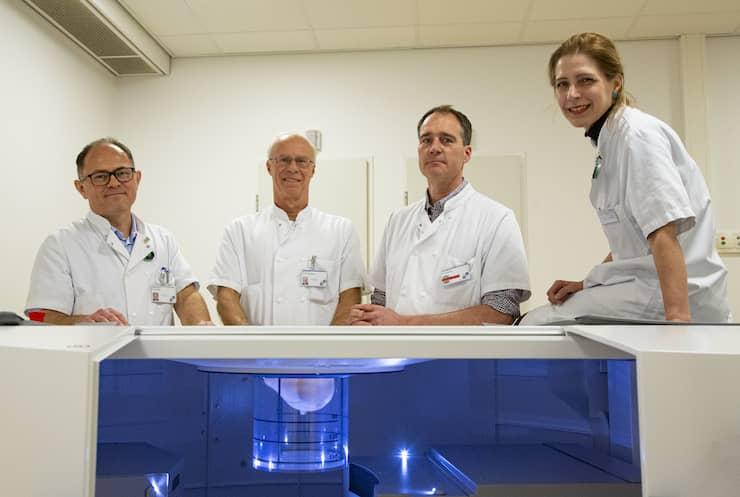 Mamma CT met v.l.n.r.: Alexander Sramek, Martin Wasser, Tijmen Korteweg en Nora Voormolen.